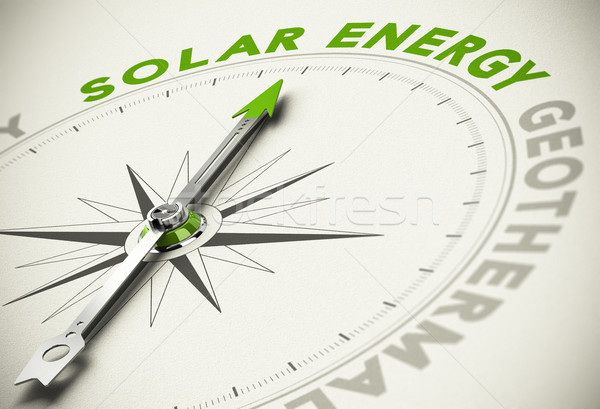 Green Energies Choice - Solar Energy Concept Stock photo © olivier_le_moal