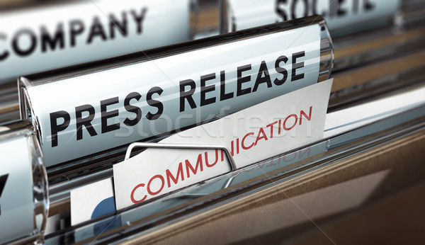Press Release, Company Communication With Medias Stock photo © olivier_le_moal