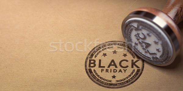Black friday evento texto cartão de vendas Foto stock © olivier_le_moal