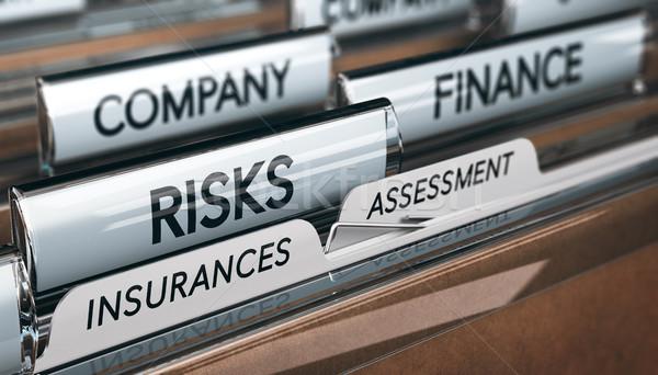 Enterprise risk assesment and management. Insurances. Stock photo © olivier_le_moal