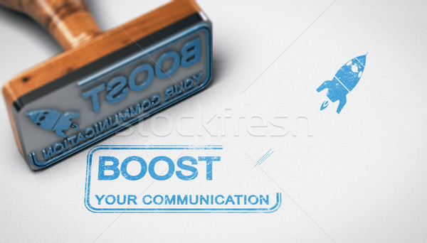 Boost your Company Communication, Advertising Concept Stock photo © olivier_le_moal