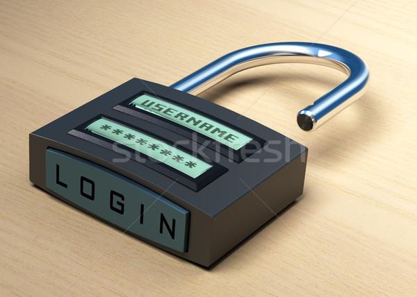 Photo stock: Web · accès · cadenas · numérique · nom · d'utilisateur · mot · de · passe