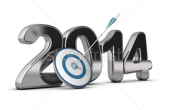 Business Concept - 2014 Objectives Stock photo © olivier_le_moal