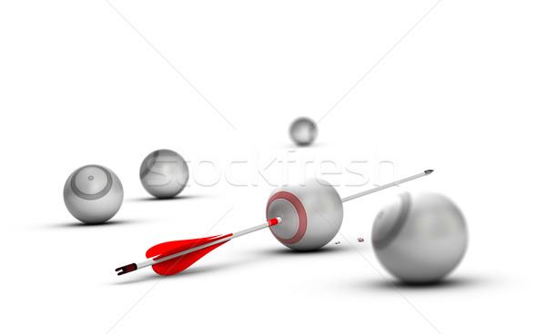 Vívmány kép illusztráció célok gömb fehér Stock fotó © olivier_le_moal