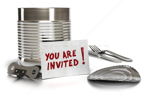 you are invited to a quick meal Stock photo © olivier_le_moal