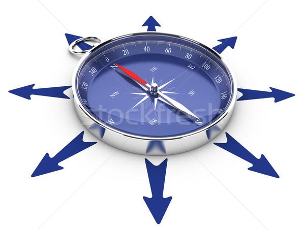 Foto stock: Oportunidades · ajudar · um · bússola · círculo · seta
