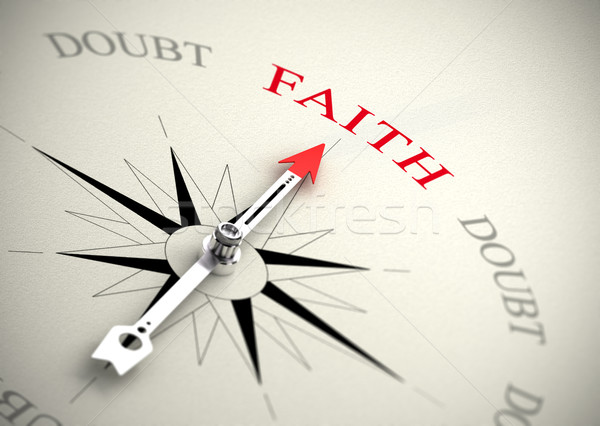 Faith versus doubt, religion or confidence concept Stock photo © olivier_le_moal