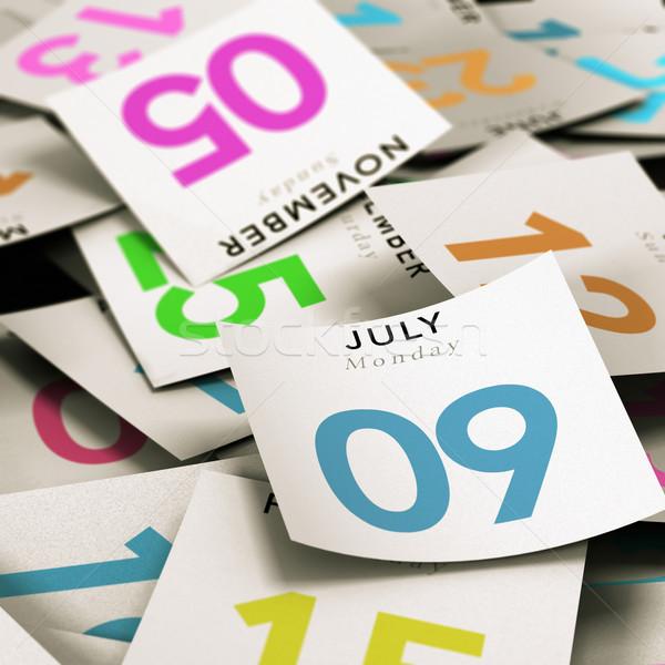 Sok nap naptár fókusz illusztráció kép Stock fotó © olivier_le_moal