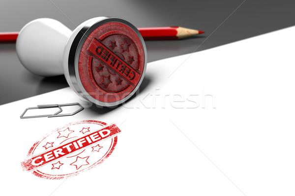Garanderen certificaat grijs witte tekst Stockfoto © olivier_le_moal