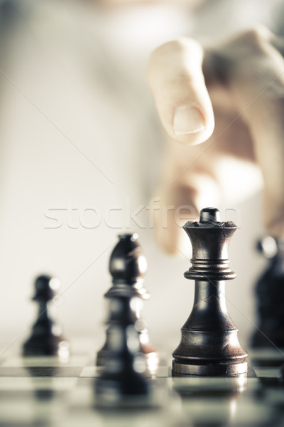 Chess Game Background Stock photo © olivier_le_moal