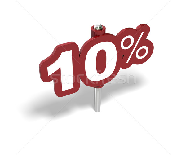 ten percentage sign, 10 percent Stock photo © olivier_le_moal