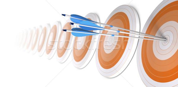 İş stratejisi kariyer afiş çok turuncu Stok fotoğraf © olivier_le_moal