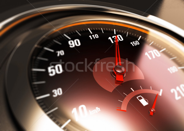 One Hundred Thirty, 130 Km per Hour, Car Speed Concept Stock photo © olivier_le_moal
