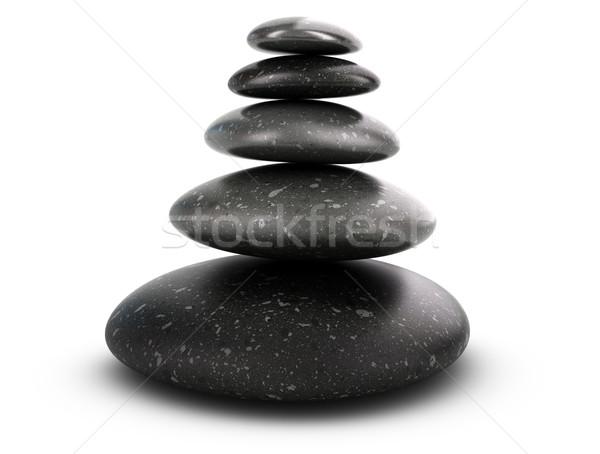 Cinco harmonia branco equilíbrio Foto stock © olivier_le_moal