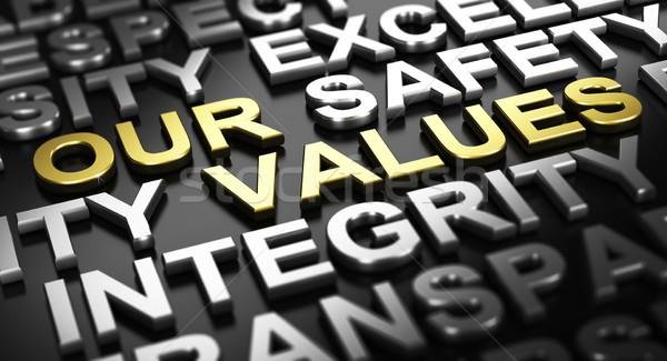 Firmy rdzeń wartości 3d ilustracji czarny tekst Zdjęcia stock © olivier_le_moal