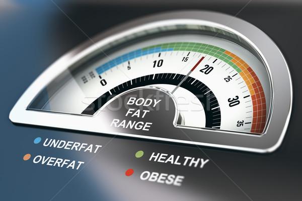 Corpo gordura alcance calculadora palavras saudável Foto stock © olivier_le_moal