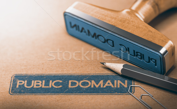 Openbare domein materiaal intellectuele eigendom rechten 3d illustration Stockfoto © olivier_le_moal