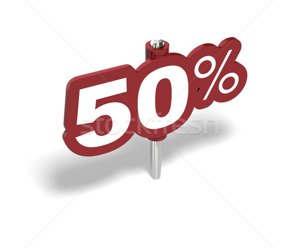 fifty percentage sign, 50 percent Stock photo © olivier_le_moal
