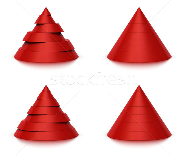 3d conical shape sliced, 6 or 7 levels  Stock photo © olivier_le_moal