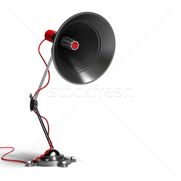 Mégaphone sonores communication métal post isolé Photo stock © olivier_le_moal