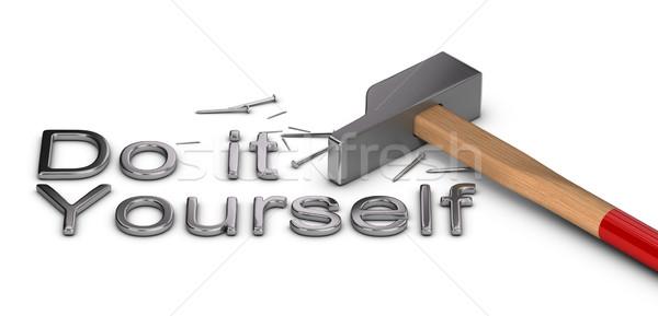 Do it yourself mot écrit métal lettres une Photo stock © olivier_le_moal