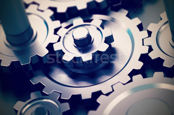 Gears Background Stock photo © olivier_le_moal