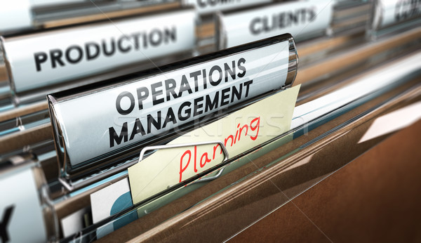 Production Process Organization, Operations Management. Stock photo © olivier_le_moal