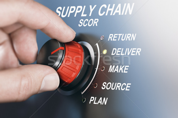 SCM Supply Chain Management, Scor Model Stock photo © olivier_le_moal