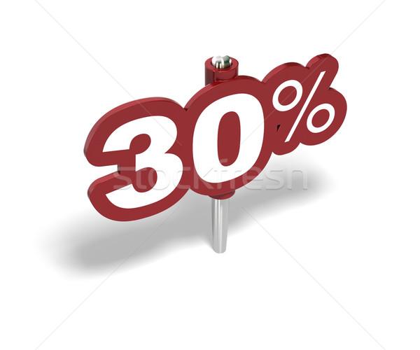 Otuz yüzde imzalamak 30 yüzde etiket Stok fotoğraf © olivier_le_moal