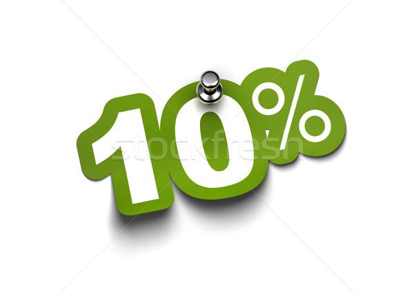 ten percent sticker Stock photo © olivier_le_moal