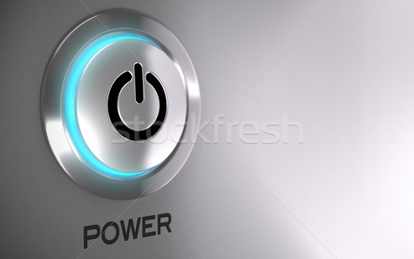 Power Push Button Activated  Stock photo © olivier_le_moal