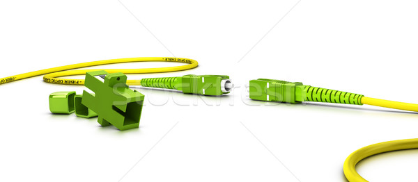 Fiber Optic Patchcord Over White Stock photo © olivier_le_moal