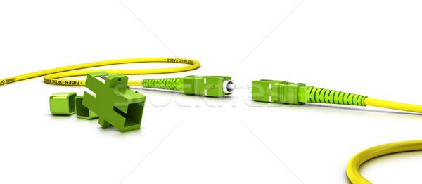 Rost optikai fehér közelkép technológia hálózat Stock fotó © olivier_le_moal