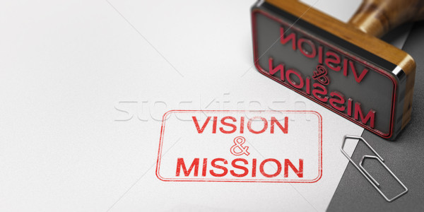 Affaires vision mission 3d illustration autre Photo stock © olivier_le_moal