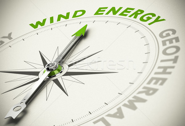 Green Energies Choice - Wind Energy Concept Stock photo © olivier_le_moal