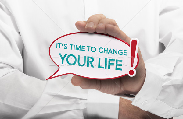 Motivation message, Life Change  Stock photo © olivier_le_moal