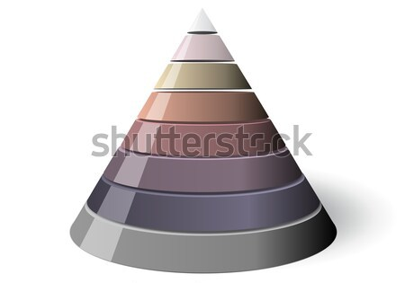 Vector Cone Eight Levels, Vectorial 3d Shape Stock photo © olivier_le_moal