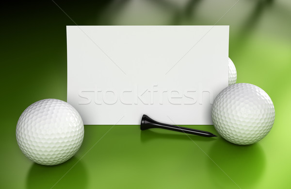 Golf Sign, Communication Over Green Stock photo © olivier_le_moal