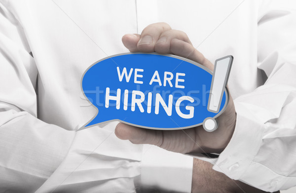 Now Hiring Message, Recruitment Concept Stock photo © olivier_le_moal