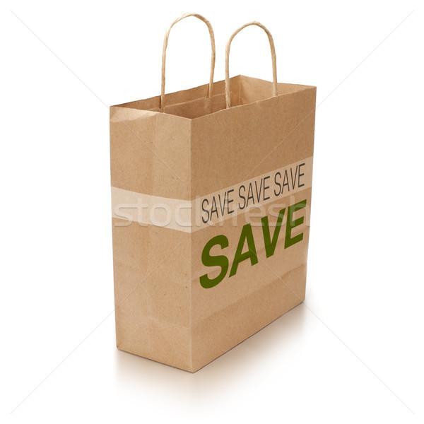 shopping bag on white Stock photo © olivier_le_moal