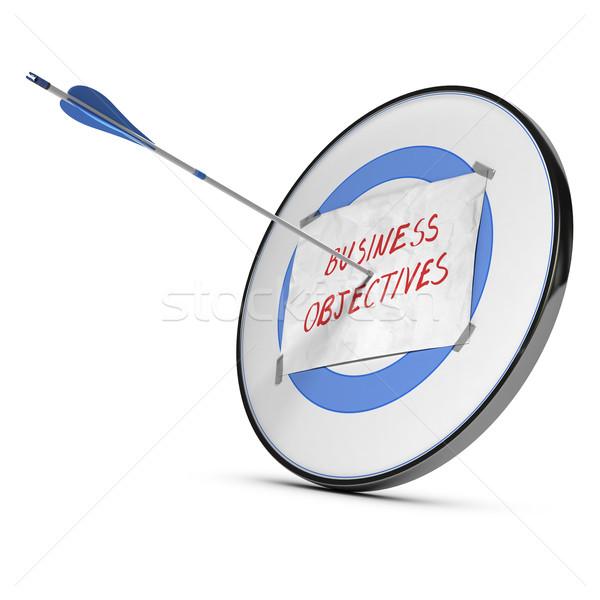 Affaires commerciaux objectifs cible fiche papier Photo stock © olivier_le_moal