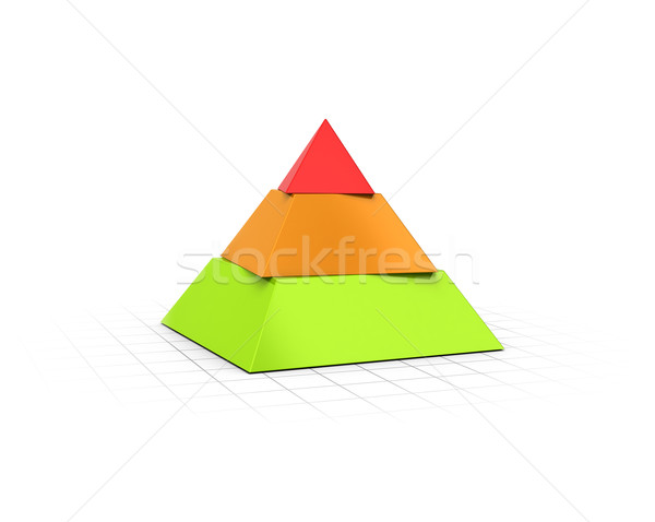 Layered Pyramid Three Levels  Stock photo © olivier_le_moal