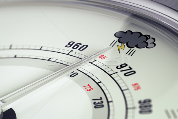 Bad Weather Barometer Close Up  Stock photo © olivier_le_moal