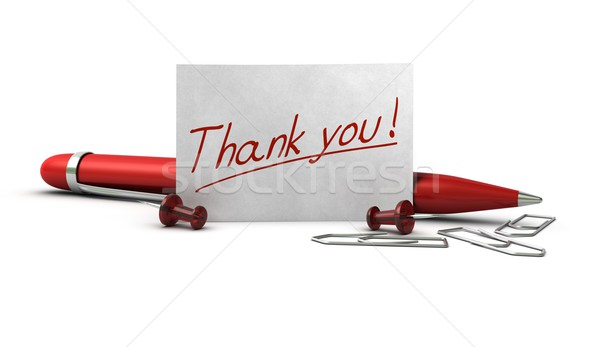 thank you, acknowledgment Stock photo © olivier_le_moal