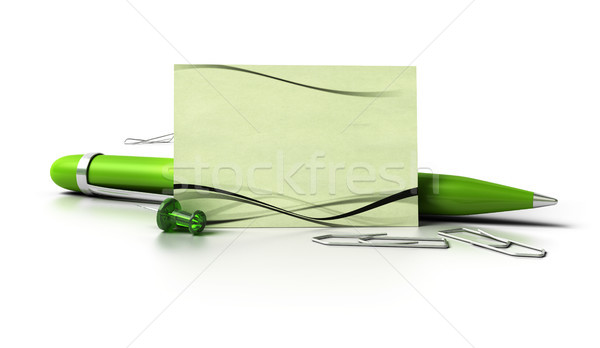blank eco friendly business card Stock photo © olivier_le_moal