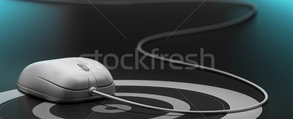 Web pazarlama beyaz fare hedef tel siyah Stok fotoğraf © olivier_le_moal