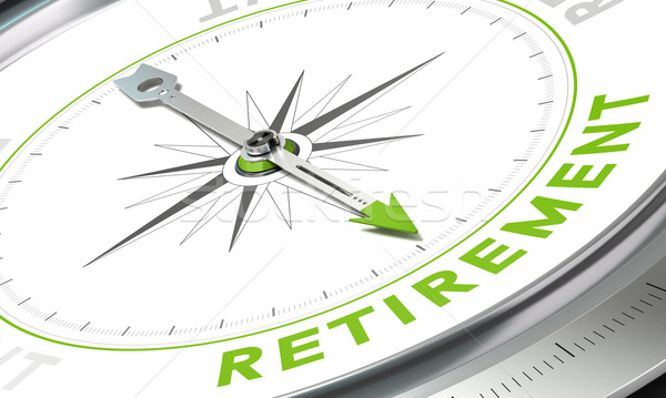 Nyugdíj terv iránytű kép tű mutat Stock fotó © olivier_le_moal