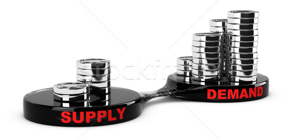 Suministrar demanda resumen monedas imagen análisis de negocio Foto stock © olivier_le_moal