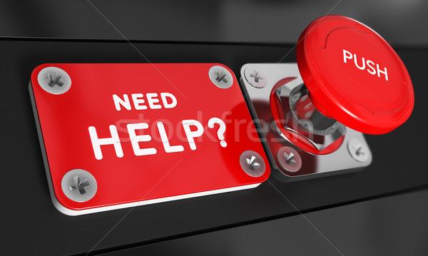 Potrzeba pomoc panika przycisk tekst obraz Zdjęcia stock © olivier_le_moal