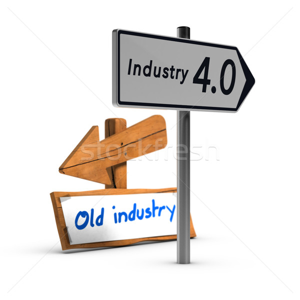 Industry 4.0 vs Old Industry Stock photo © olivier_le_moal